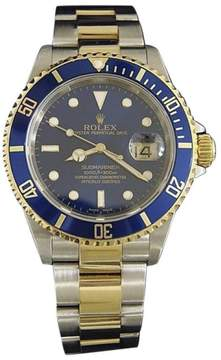 Rolex Submariner 16613T 18K Yellow Gold & Stainless Steel Blue Dial 40mm Mens Watch