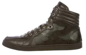 Gucci GG Imprimé High-Top Sneakers