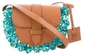 M Missoni Leather & Raffia Space Bag w/ Tags