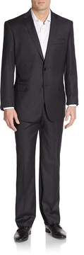 English Laundry Men's Regular-Fit Solid Wool Suit