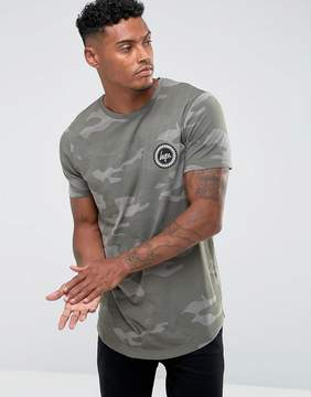 Hype T-Shirt In Mint Camo
