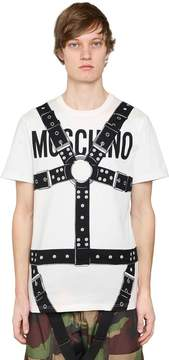 Moschino Bondage & Logo Cotton Jersey T-Shirt