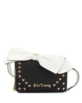 Betsey Johnson Crossbow Crossbody Bag, Black