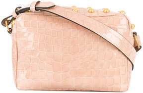 RED Valentino studded croc effect shoulder bag