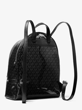 MICHAEL Michael Kors Rhea Medium Glossy Signature Backpack