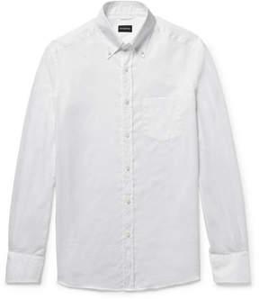 Ermenegildo Zegna Slim-Fit Button-Down Collar Cotton Oxford Shirt