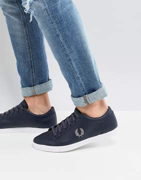 Fred Perry Baseline Leather Sneakers In Navy