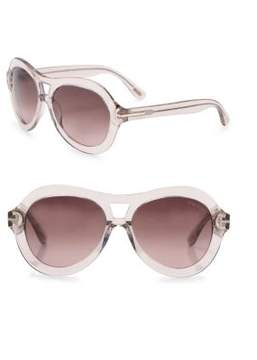 Tom Ford Islay 56MM Aviator Sunglasses