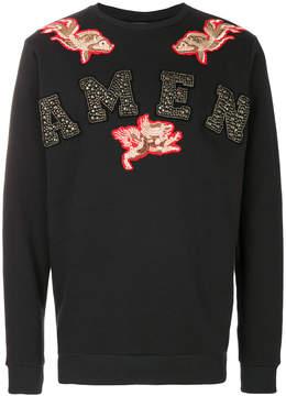 Amen logo print sweatshirt