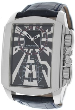 Chopard Classic Dual Tec 168468-3001 Automatic Stainless Steel & Leather 46mm Mens Watch