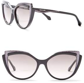 Roberto Cavalli 58mm Acetate Cat Eye Sunglasses