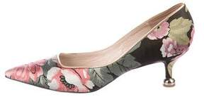 Dries Van Noten Floral Pointed-Toe Pumps