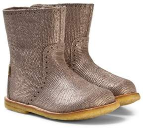 Bisgaard Grey Metallic Boots