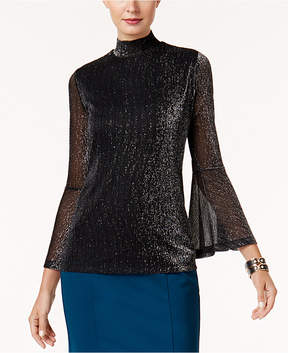 Alfani Metallic Bell-Sleeve Top, Created for Macy's