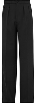 Raf Simons Wide-Leg Pleated Stretch-Twill Trousers