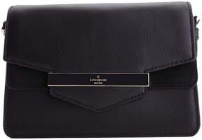 Kate Spade Black Kaela Caramel Court Small Leather Crossbody Bag