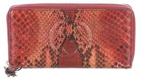 Gucci Python Soho Zip Around Wallet - ORANGE - STYLE