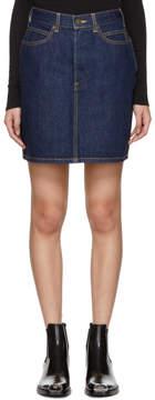 Calvin Klein Blue Denim Miniskirt