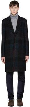 Paul Smith Black Check Single Button Coat