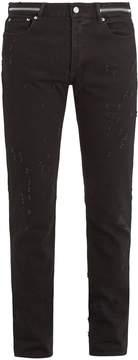 Givenchy Zip-detail distressed slim-leg jeans