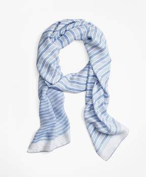 Brooks Brothers Stripe Silk-Blend Oblong Scarf