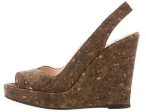Christian Louboutin Cork Wedge Sandals