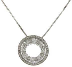 Damiani Belle Epoque 18K White Gold & Diamond Pendant Necklace