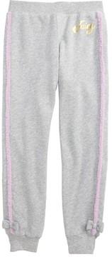 Juicy Couture Girl's Faux Fur Trim Jogger Pants