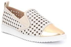 Karl Lagerfeld Paris PARIS Carrie Suede Pearled Cage Slip On Sneakers