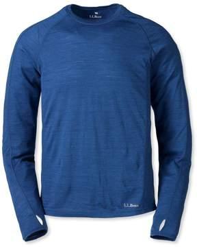 L.L. Bean L.L.Bean Cresta Wool Ultralight 150 Base Layer, Long-Sleeve Stripe