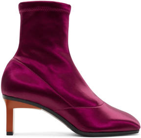 3.1 Phillip Lim Purple Satin Blade Boots