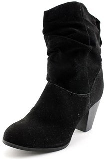 Rampage Trixen Women Round Toe Synthetic Black Ankle Boot.