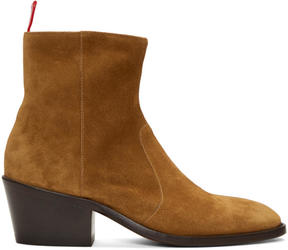 Acne Studios Brown Suede Jesse Boots
