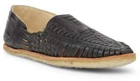 Toms Black Leather Huarache Sandal
