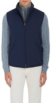 Loro Piana Men's Marlin Reversible Tech-Twill & Virgin Wool-Blend Vest