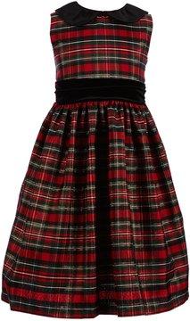 Jayne Copeland Big Girls 7-12 Plaid Peter-Pan Collar Dress