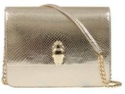 Class Roberto Cavalli Gold Woman Leather Bag.