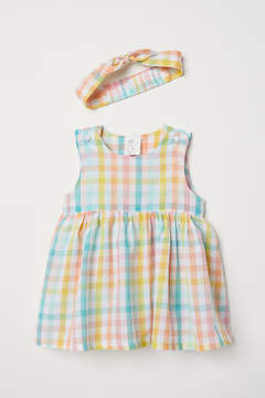 H&M Dress and Hairband - Pink