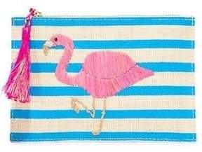 Kayu Flamingo Pouch In Natural