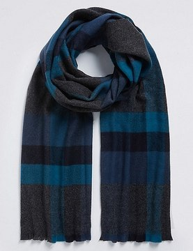 Marks and Spencer Overcheck Woven Blanket Scarf