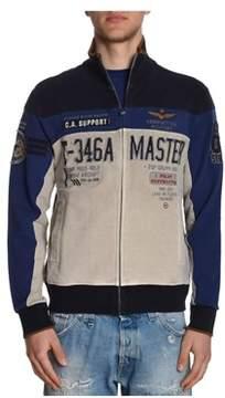 Aeronautica Militare Men's Beige Cotton Sweatshirt.