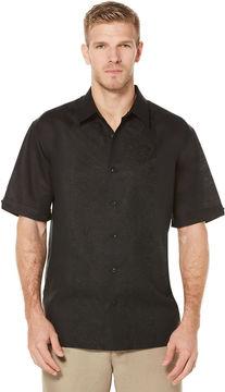 Cubavera Short Sleeve Tonal Embroidered Shirt
