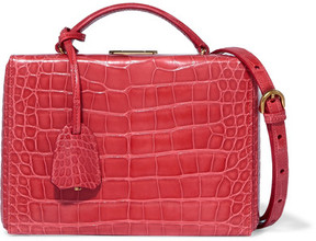 Mark Cross Grace Small Alligator Shoulder Bag - Red