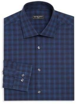 Saks Fifth Avenue MODERN Tonal Gingham Dress Shirt