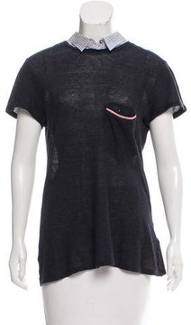 Band Of Outsiders Collared Short Sleeve Top