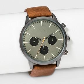 Merona Men's Strap Watch Brown