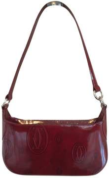 Cartier Vintage Red Leather Handbag