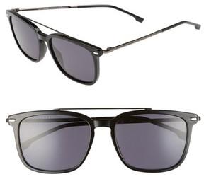 BOSS Men's 55Mm Polarized Sunglasses - Black