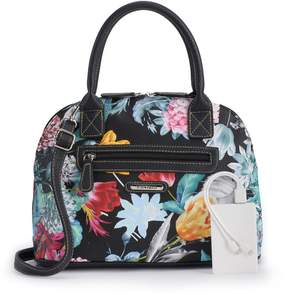 Co Stone & Plugged-In Floral Domed Satchel