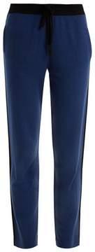 Allude Side-stripe cashmere trousers